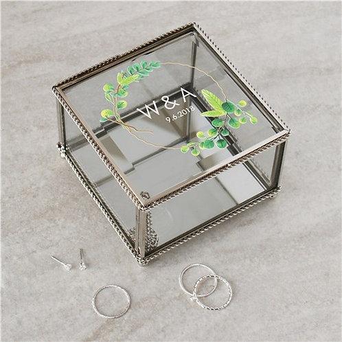 Personalized Wreath Jewelry Box
