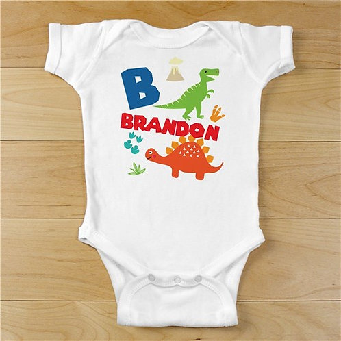 Personalized Dinosaur Infant Bodysuit