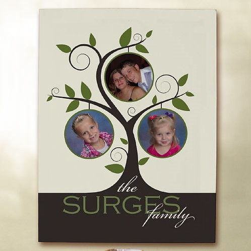 Personalized Family Tree Collage Canvas