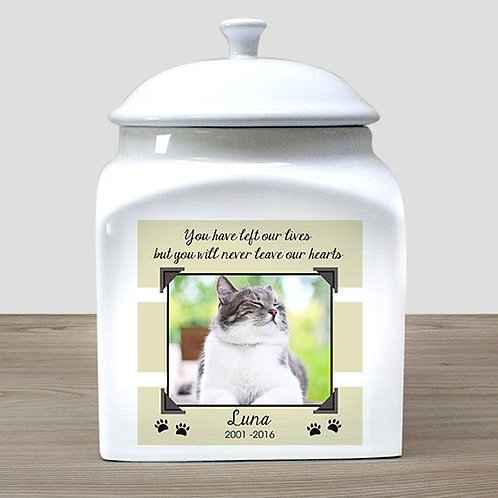 Personalized Photo Cat Urn