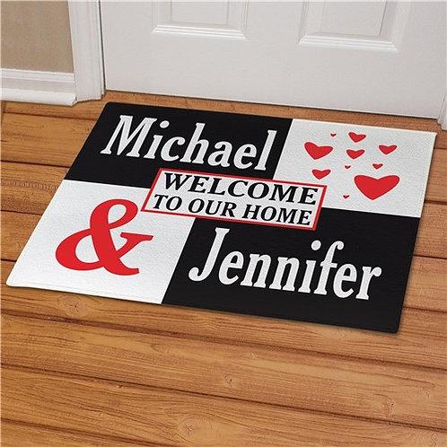 Personalized Couple's Love Doormat
