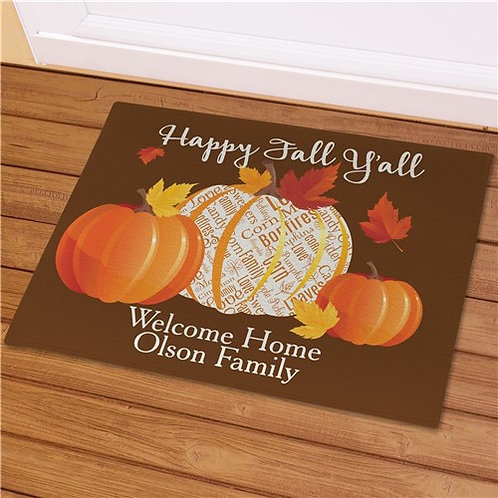 Personalized Happy Fall Yall Doormat