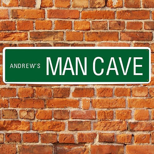 Personalized Man Cave Street Sign