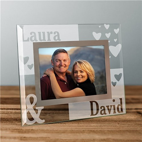 Personalized Couples Glass Picture Frame