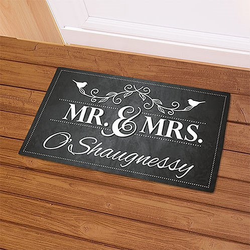 Mr. & Mrs. Welcome Doormat