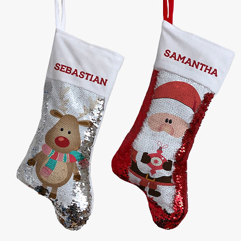 Christmas characters personalized Christmas stocking