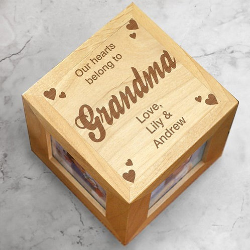 Our Hearts Grandma Photo Cube