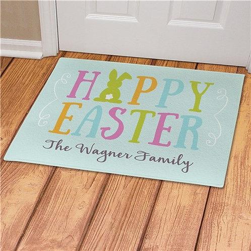 Personalized Pastel Happy Easter Doormat