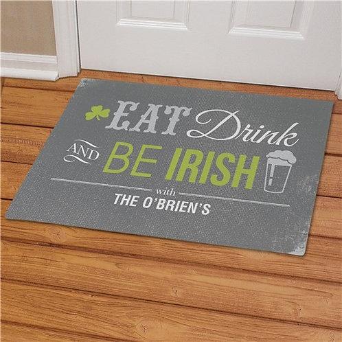 Personalized Irish Welcome Doormat