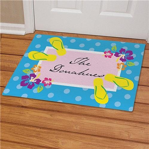 Personalized Summer Welcome Doormat