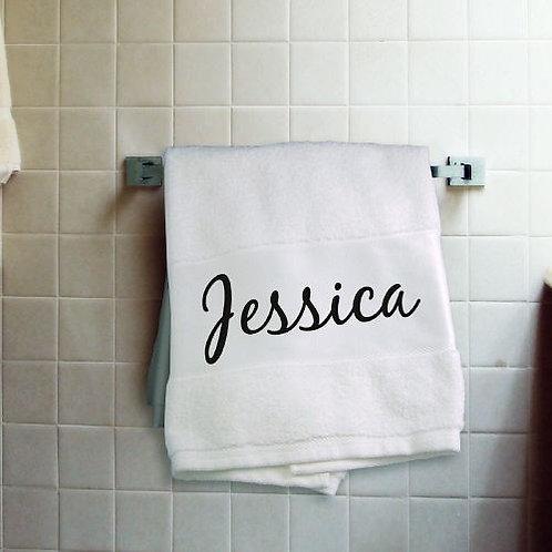 Personalized Name Bath Towel