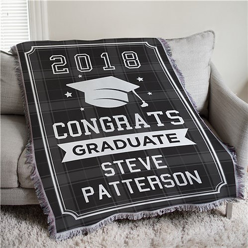 Personalized Congrats Graduate Flannel Tapestry