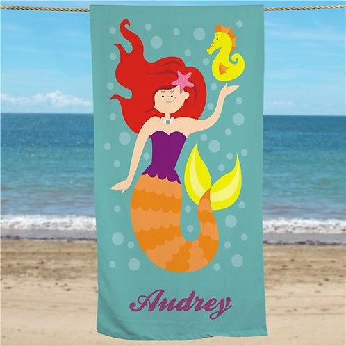 Personalized Mermaid Beach Towel