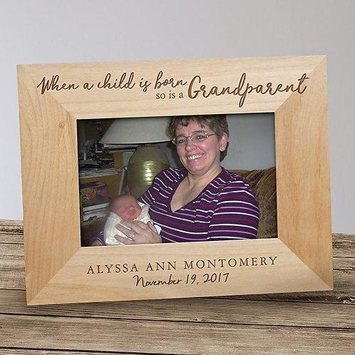 Engraved Grandparent Wood Picture Frame