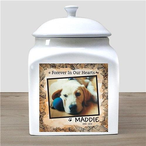 Personalized Ceramic Dog Photo Urn