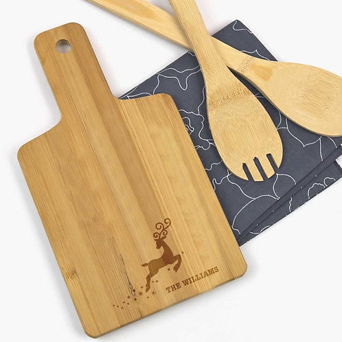Reindeer Personalized Wooden Serving Board