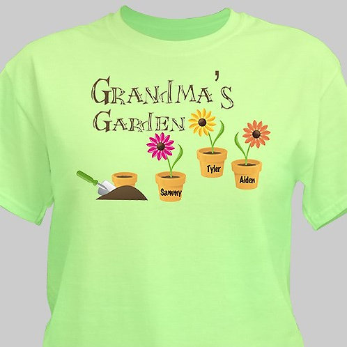Personalized Grandma's Garden T-shirt