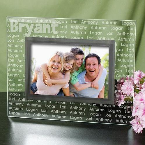 Custom Family Name Glass Frame