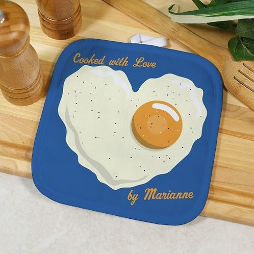 Personalized Cooked With Love Pot Holder