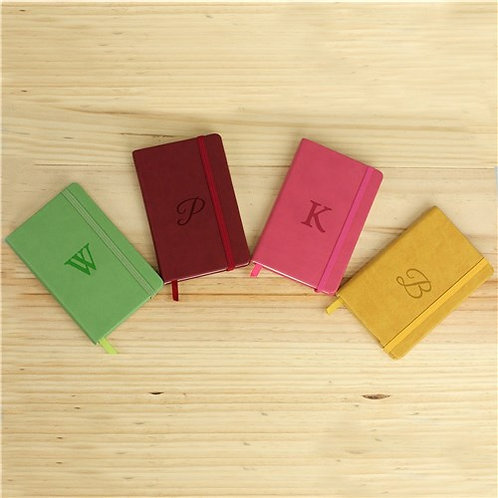 Leatherette Initial Notebook