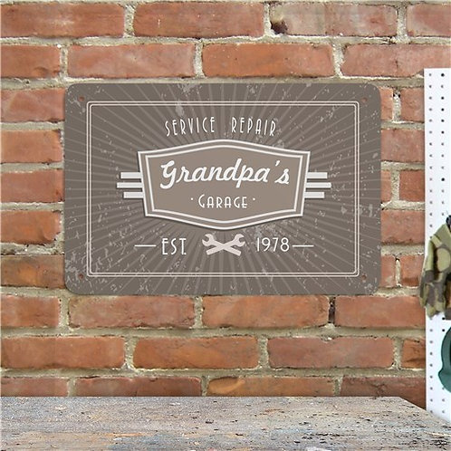 Personalized Service Repair Metal Wall Sign