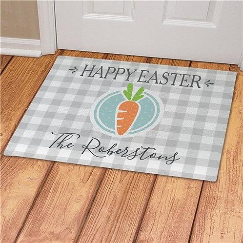 Personalized Happy Easter Carrot Doormat