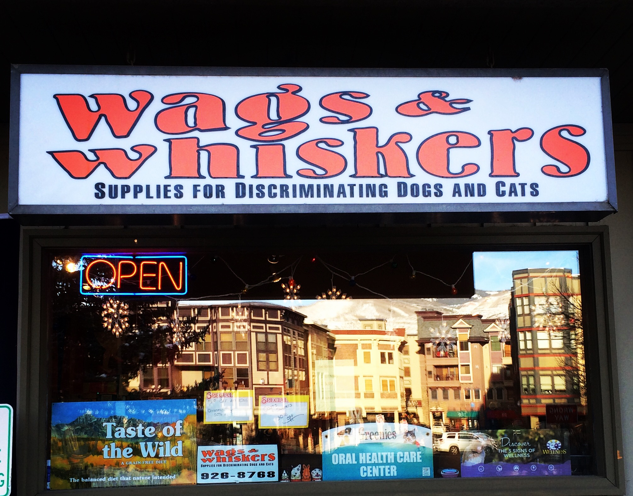 Wags Storefront Reflection