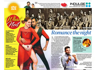 INDULGE Valentine's day event & Salsa Madras
