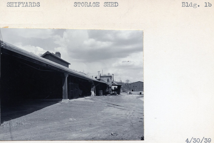Shipyards, Storage Shed, Building #1B, 4/30/39