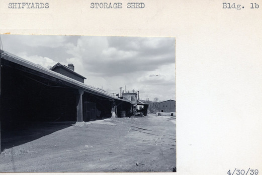 Shipyards, Storage Shed, Building #1B, 4/30/39