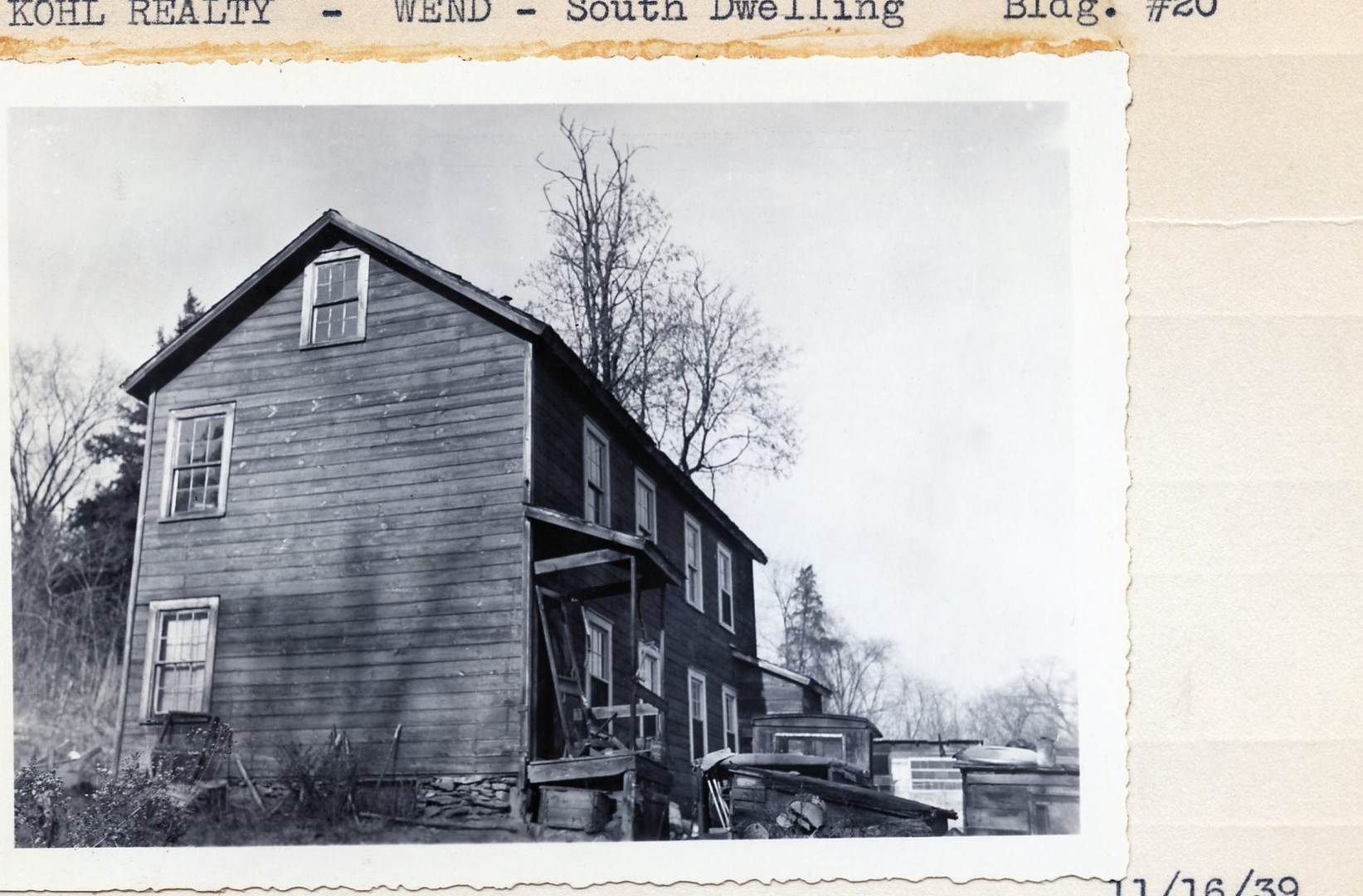 Kohl Realty - Wend - South Dwelling Bldg #20, 11/16/39