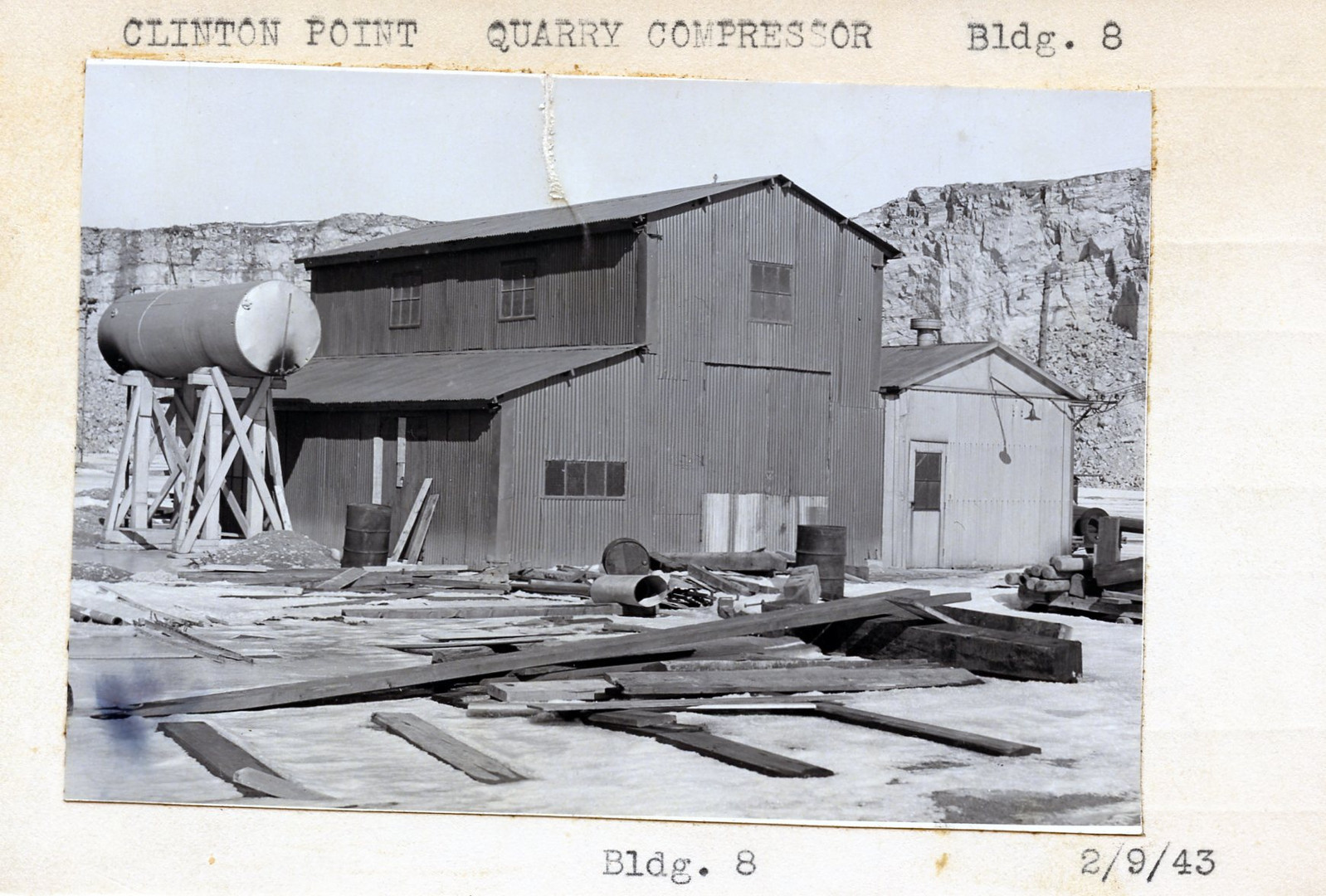 Quarry Compressor, Building #8 2/9/43