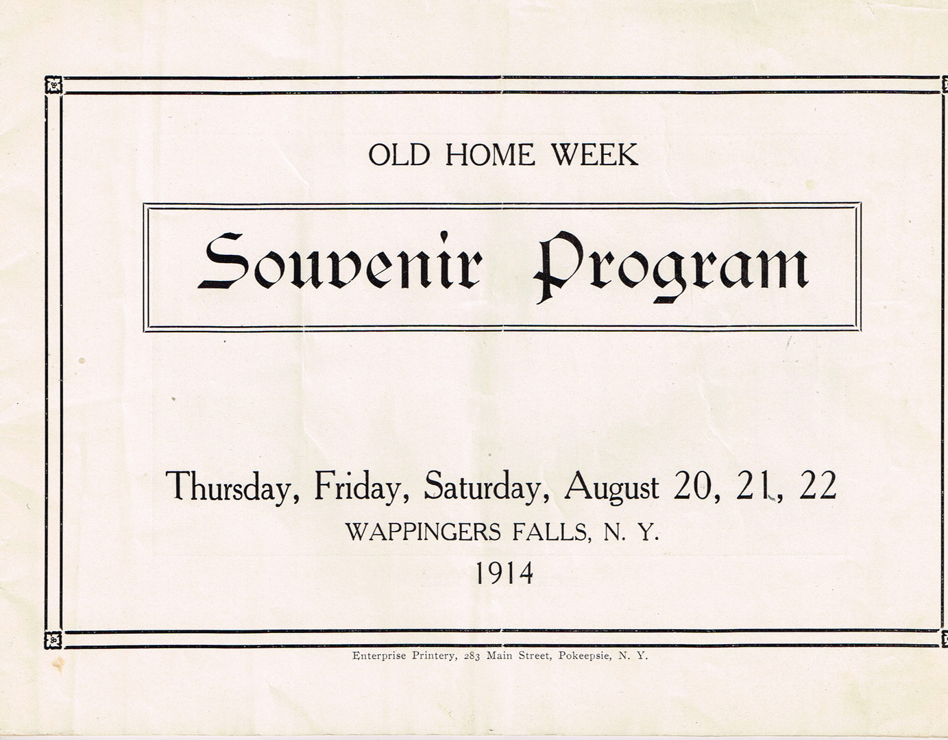 b -Old Home Week Souvenir Pamphlet - Aug