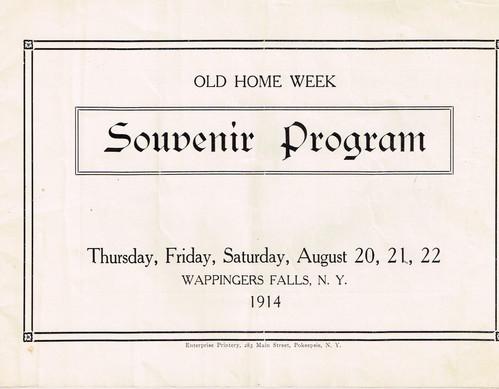 b -Old Home Week Souvenir Pamphlet - Aug