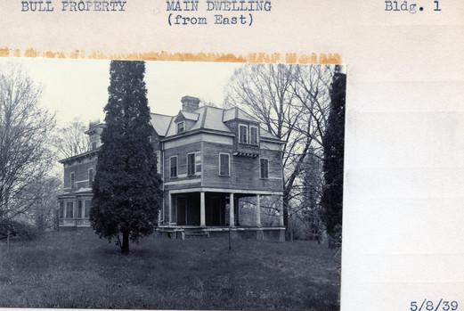 Bull Property, Main Dwelling, Building #1, 5/8/39