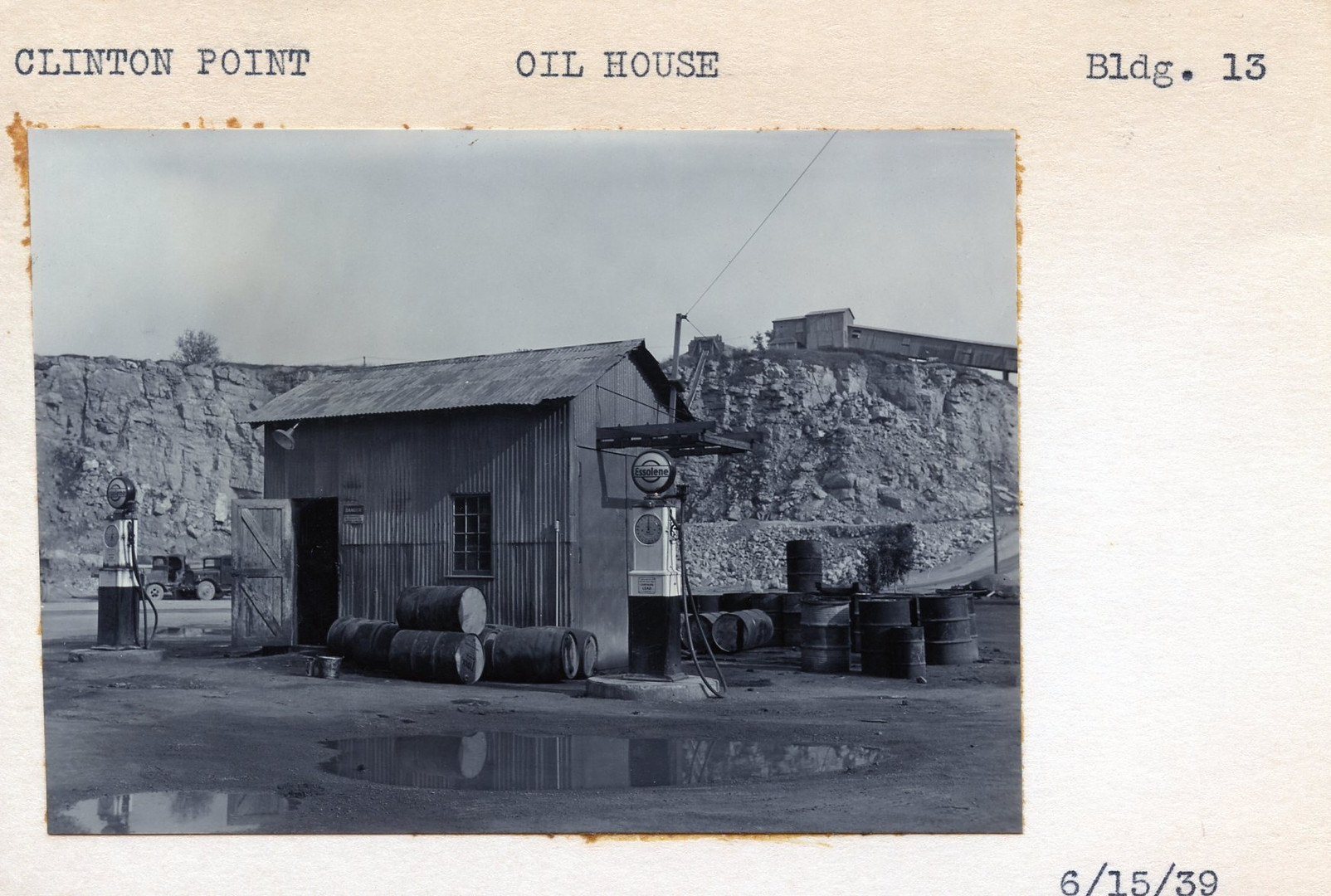 Oil House, Building #13, 6/15/39