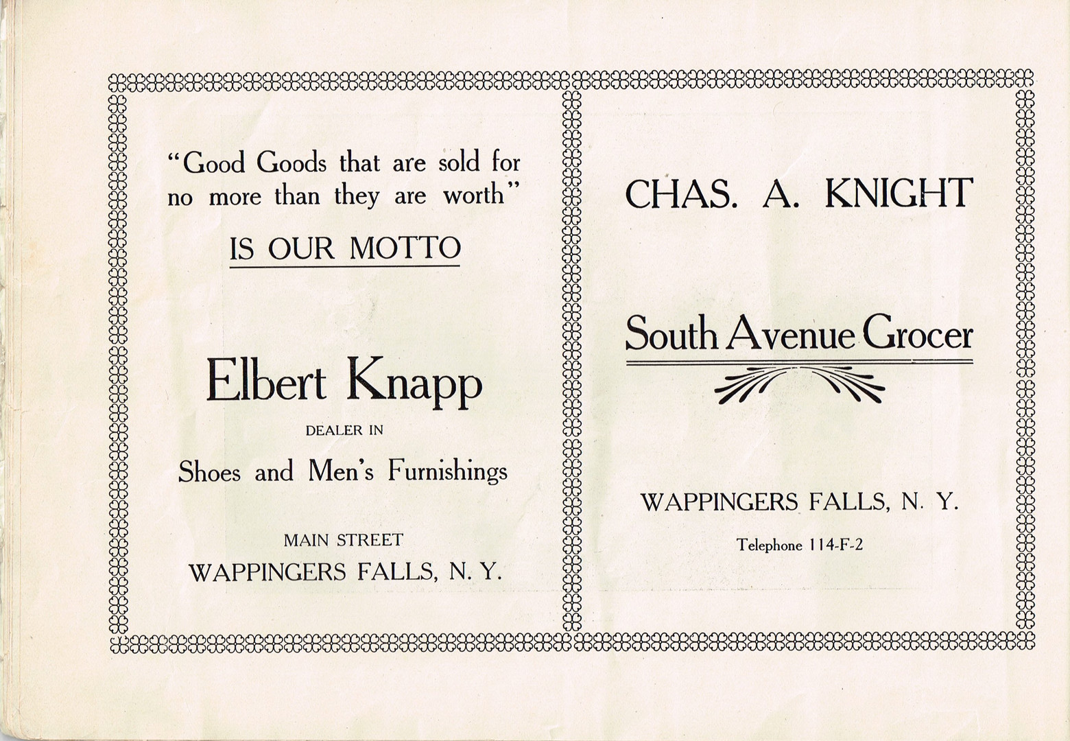 k - Old Home Week Souvenir Pamphlet - Au