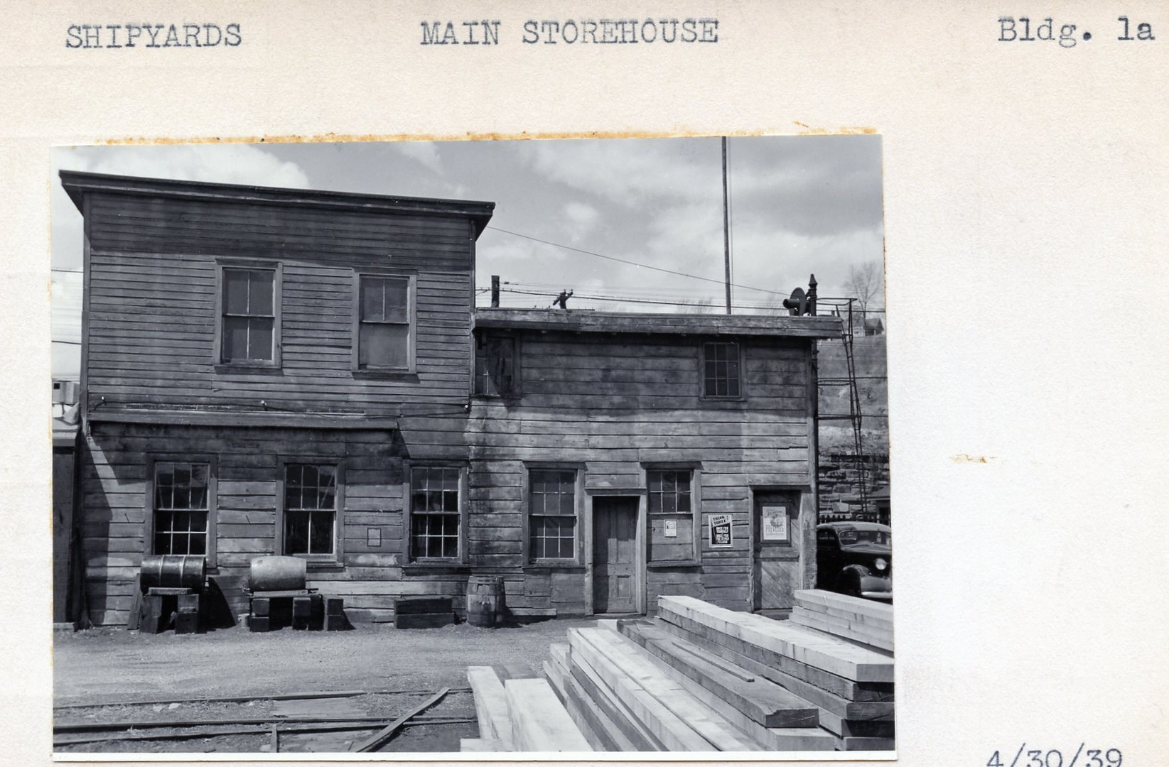 Shipyards, Main Storehouse, Building 1a, 4/30/39