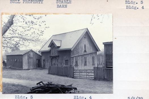 Bull Property Stable Building #5, Barn Building #4 5/8/39 barn
