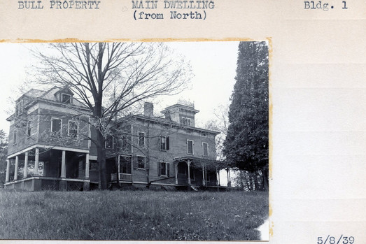 Bull Property, Main Building (From North). Building #1, 5/8/39