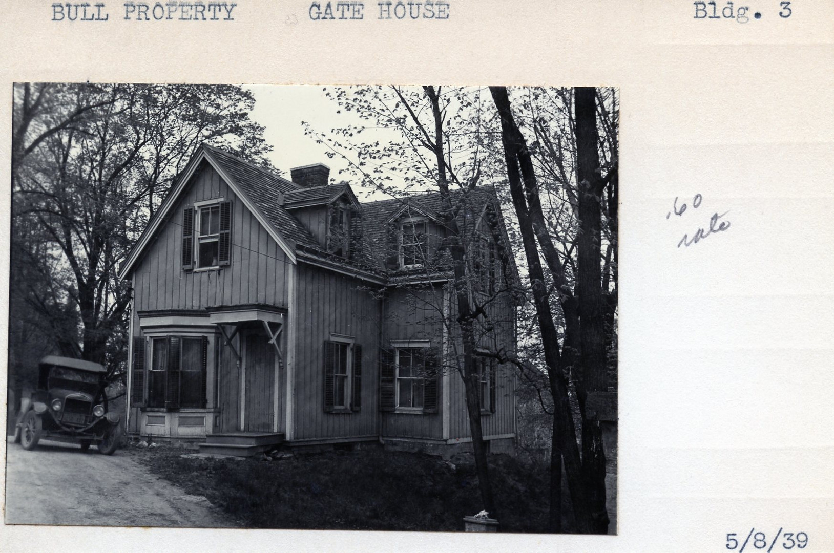 Bull Property, Gate House, Building #3, 5/8/39