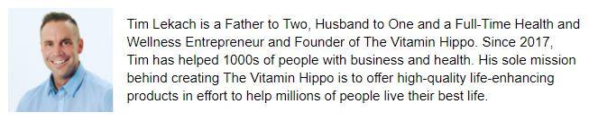 tim lekach the vitamin hippo