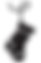 black Christmas stocking icon