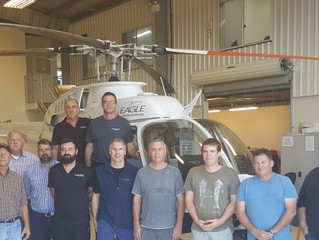 Eagle Copters Maintenance Successfully Completes First HTS900 Engine Training Course
