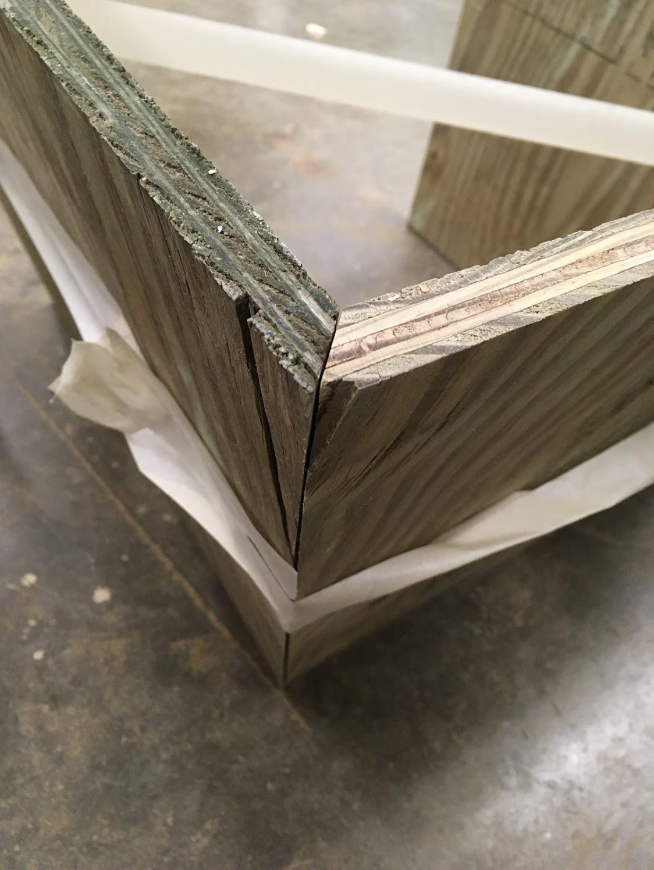 Treated Wood with Angled Corners