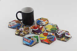 Food Wrapper Coasters