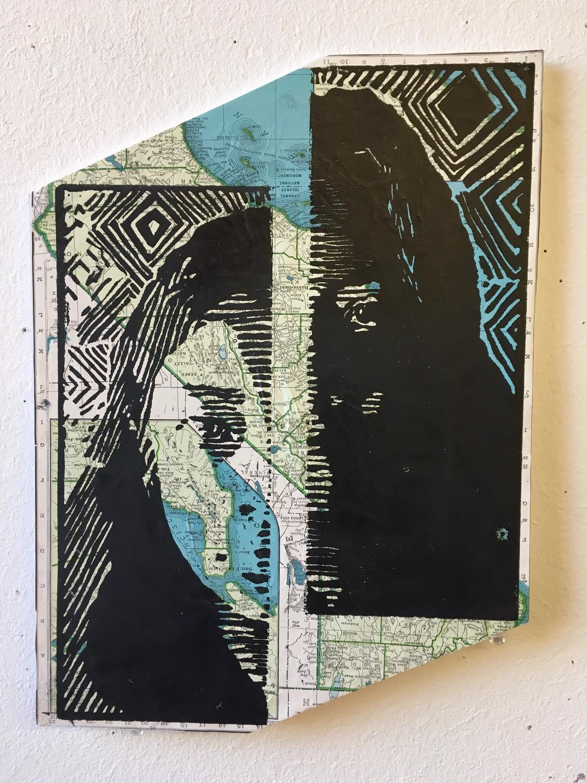 Self-Portrait Print Map
