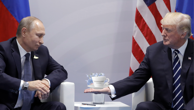 Putin and Trump with Cup