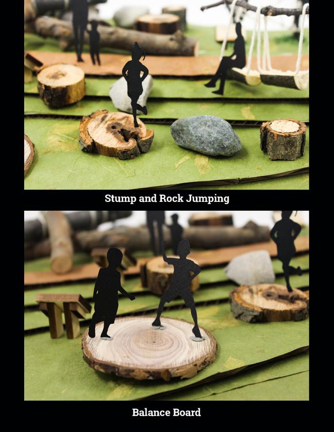 Stump/Rock Jumping and Balance Board