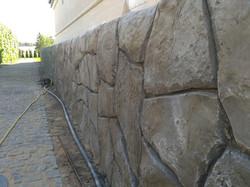 Подпорная стена из арт бетона под камень